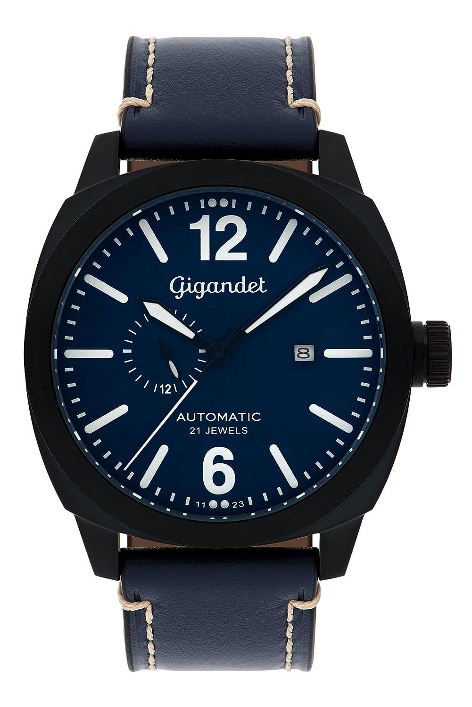 Gigandet Automatik Herren-Armbanduhr Red Baron III Fliegeruhr Uhr Datum Analog Blau Schwarz G16-005