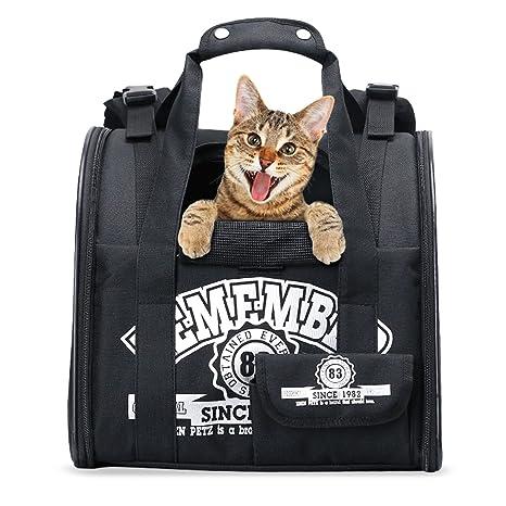 Amazon Com Pawaboo Pet Carrier Backpack Adjustable Hands Free
