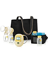 Medela Freestyle Mobile Double Electric Breast Pump, Lactation Support from 24/7 LC, Hands Free Breastpump, Digital...