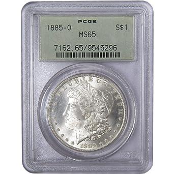 1885 US Morgan Silver Dollar $1 NGC MS65