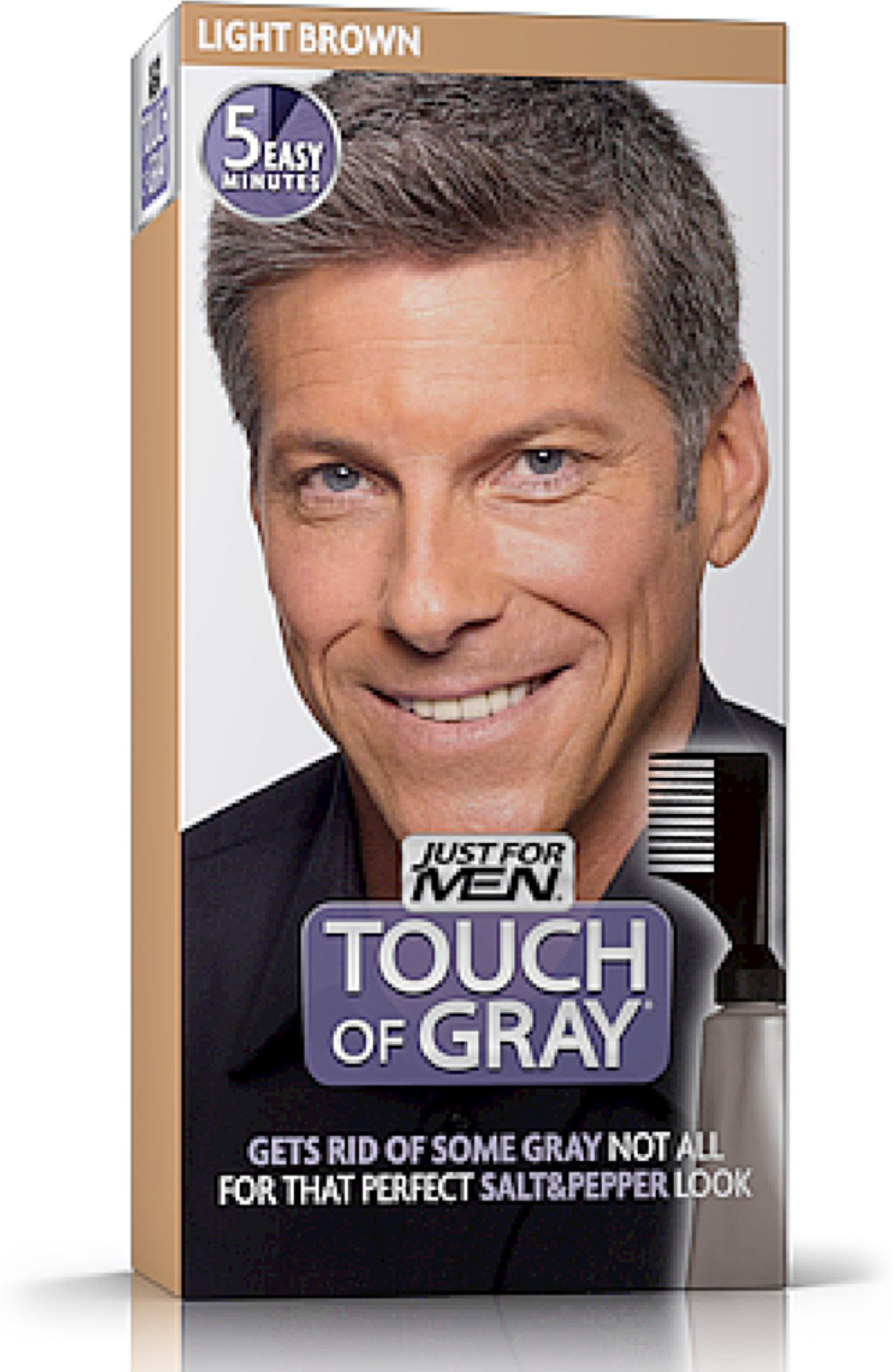 Touch of Gray Men's Hair Color, Light Brown (Pack of 6) by Just for Men