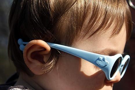 non vis verres PC incassables UV 400 cat/égorie 3 et 4 monture pliable et incassable fabriqu/é en Italie lunettes de protection solaire enfant de 6 mois /à 1 2 3 ans Animals Sunglasses Froggy