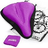 Asiento cojín para bicicleta de ejercicio [suave pad de gel] - Universal para sillín de bicicleta para hombres y mujeres–se adapta interior ciclismo, spinning, bicicletas de carretera y de montaña