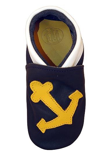 b41d1453976 Zapatos de Cuero para bebés hechos a mano por Three Little Imps - Salada  Ancla de