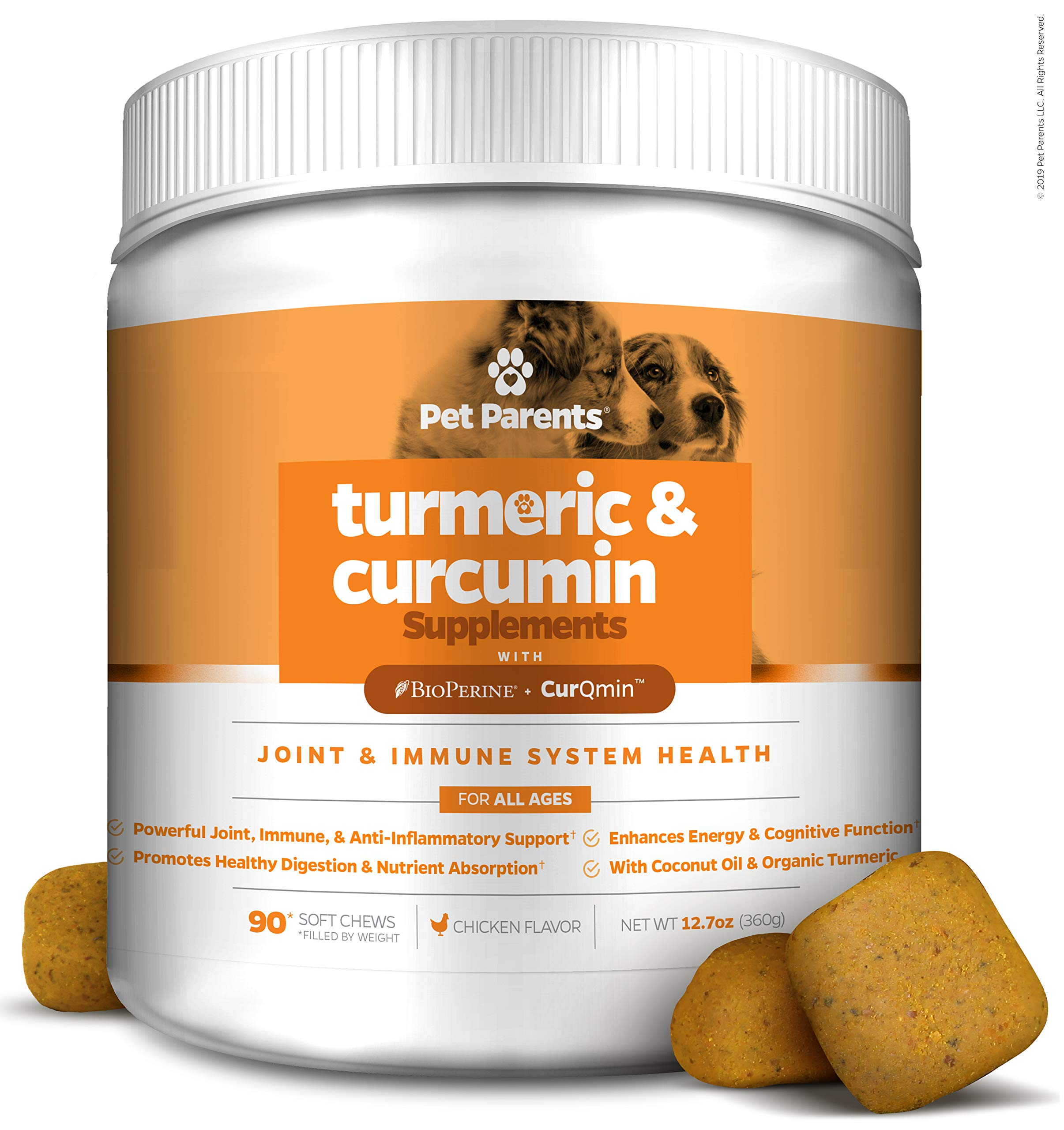 Pet Parents USA Turmeric for Dogs 4g 90c - K9 Joint, Dog Joint & Dog Immune Support, Joint Pain Relief for Dogs, Dog Arthritis Pain Relief + Dog Aspirin with Curcumin, BioPerine + Dog Joint Supplement by Pet Parents