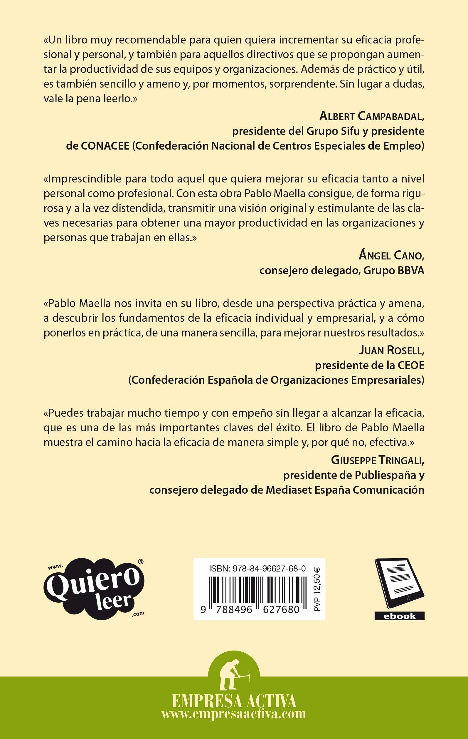 La casa de la eficacia: Cómo sentar las bases de la productividad personal y organizacional Gestión del conocimiento: Amazon.es: Maella Cerrillo, Pablo: Libros