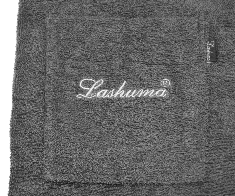 Herrenkilt colore grigio Lashuma Panno da sauna a forma di kilt taglia: S//M o L//XL S-M con bottoni per uomo 100/% cotone