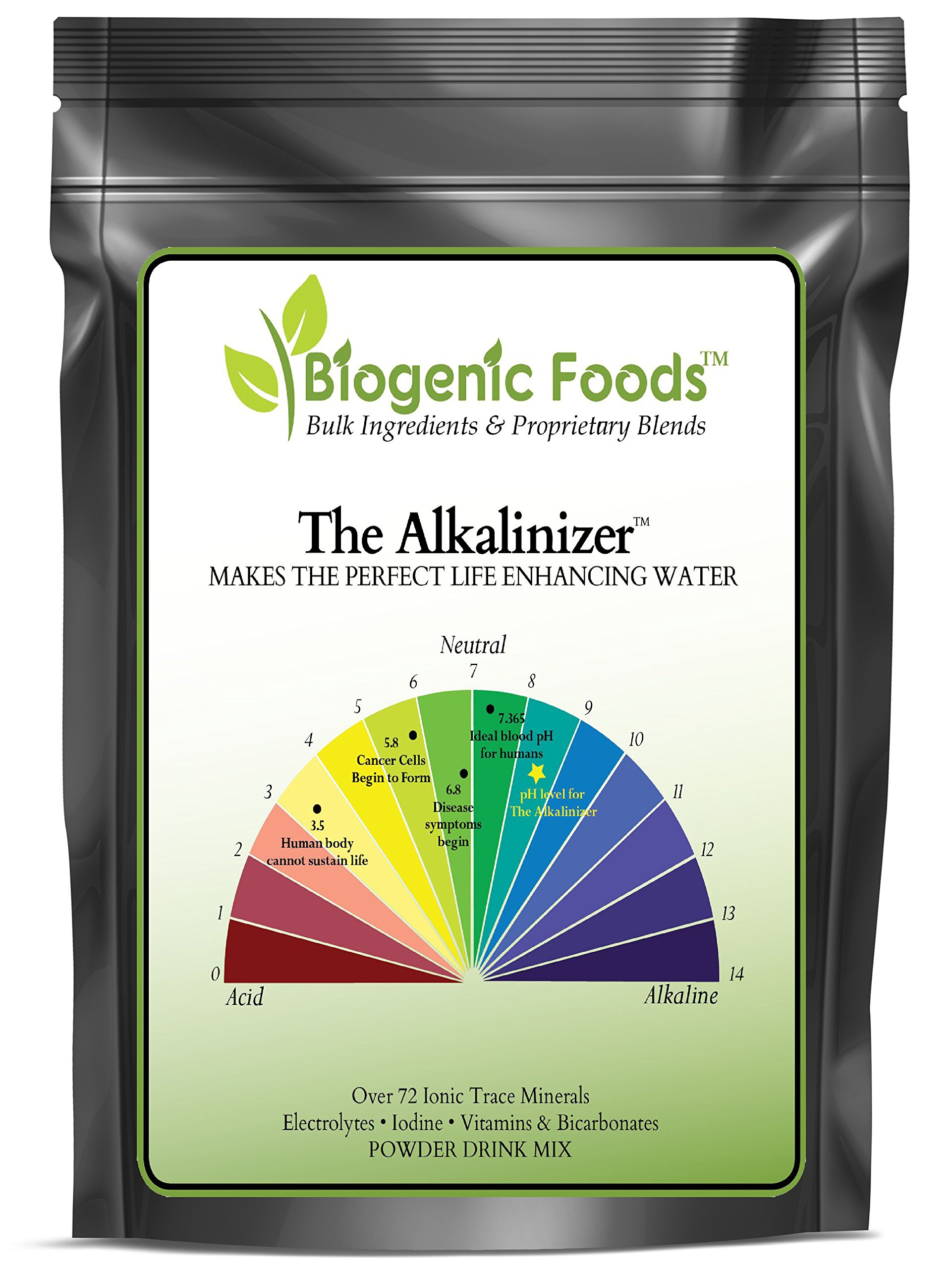 Alkalinizer - Body Acid pH Balance - Electro Alkalize, Ionize & Re-Mineralize Gallons of Water, 1 kg