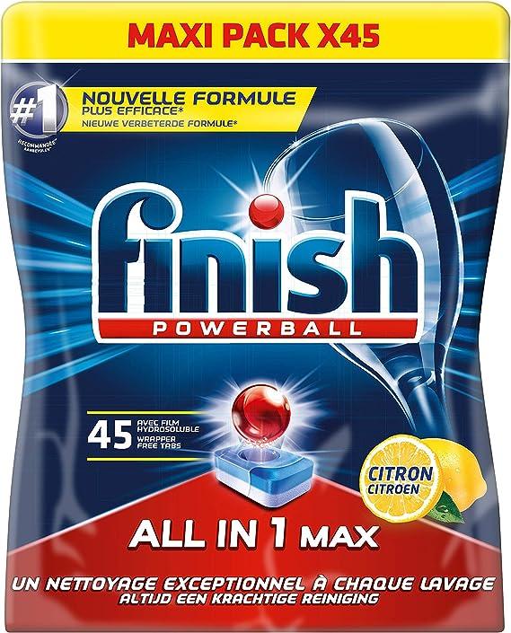 45 pastillas para lavavajillas, todo en uno, de la marca Finish ...