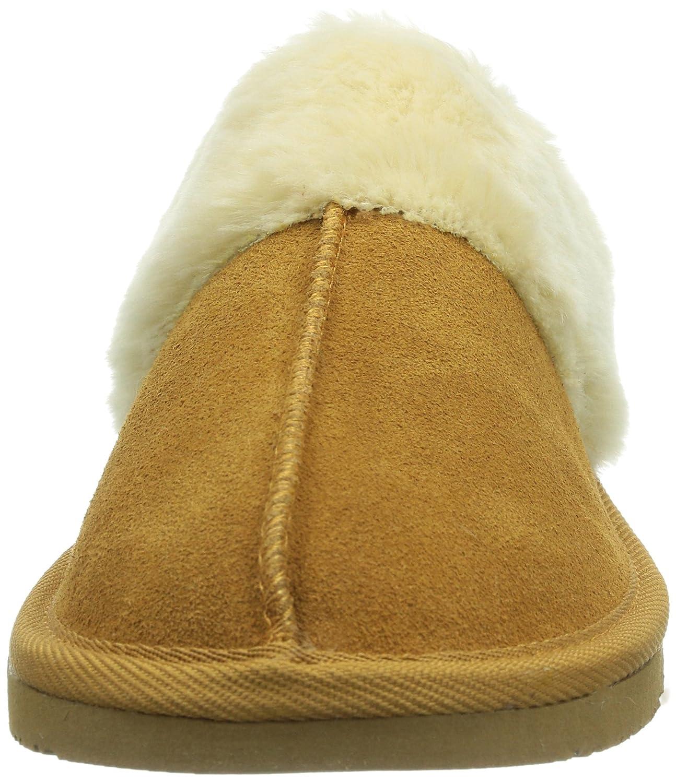Minnetonka Chesney Scuff Damen Pantoffeln (Cinnamon) Beige (Cinnamon) Pantoffeln ea4334