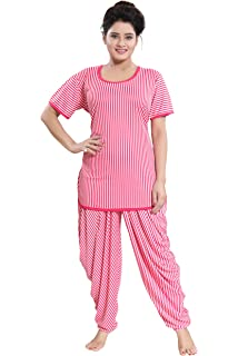 e45369d609e TUCUTE Top and Dhoti Style Bottom Night Suit Nighty Nightdress Night Gown  for
