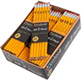 Colore Matite n. 2 con gomma – Matite gialle in legno HB di alta qualità/grafite – Ottima fornitura per la scuola, per scrivere, disegnare e fare schizzi – Adatte per bambini e adulti - 144 matite