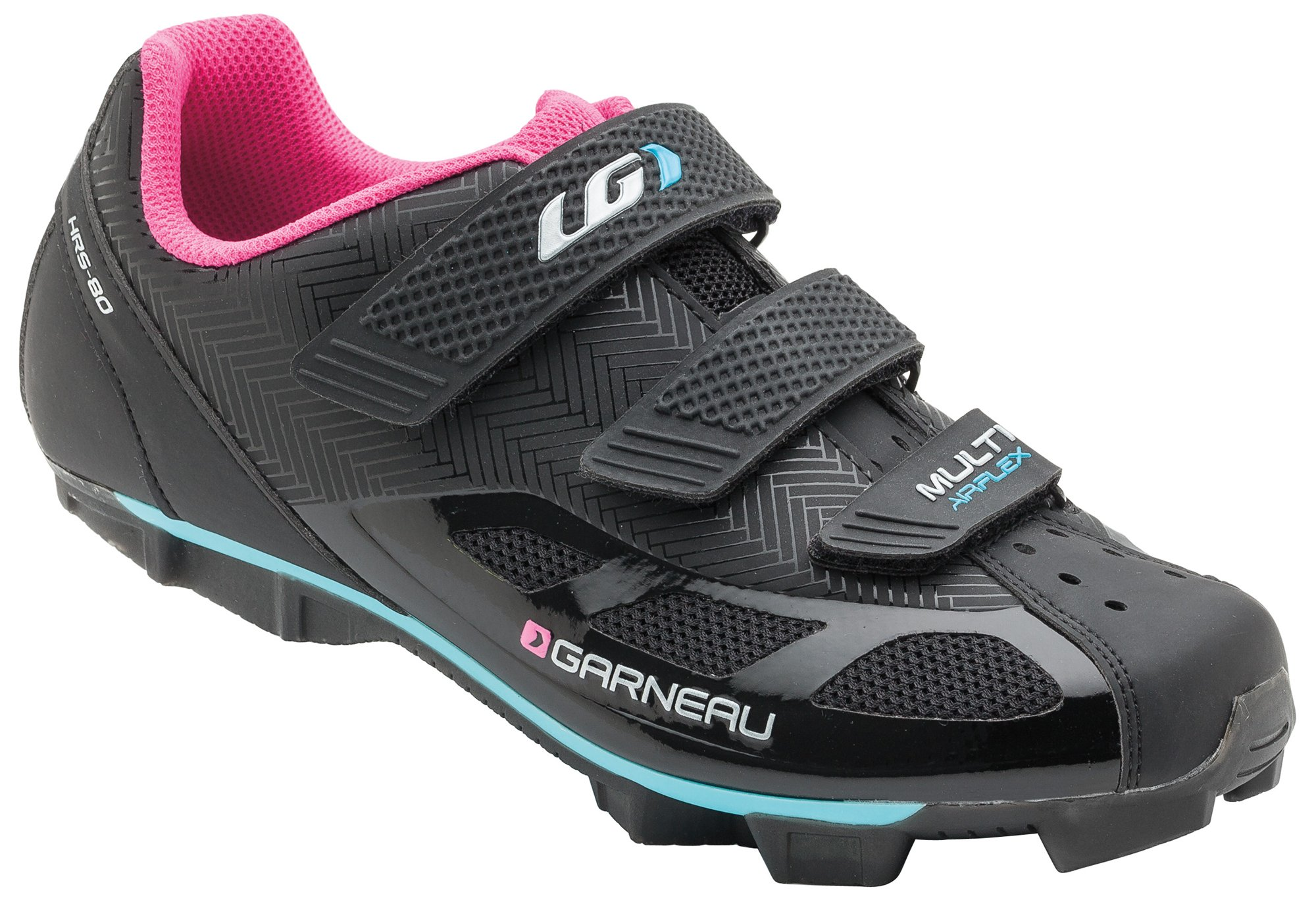 Louis Garneau - Women's Multi Air Flex Bike Shoes, Black/Pink, US (9), EU (40)