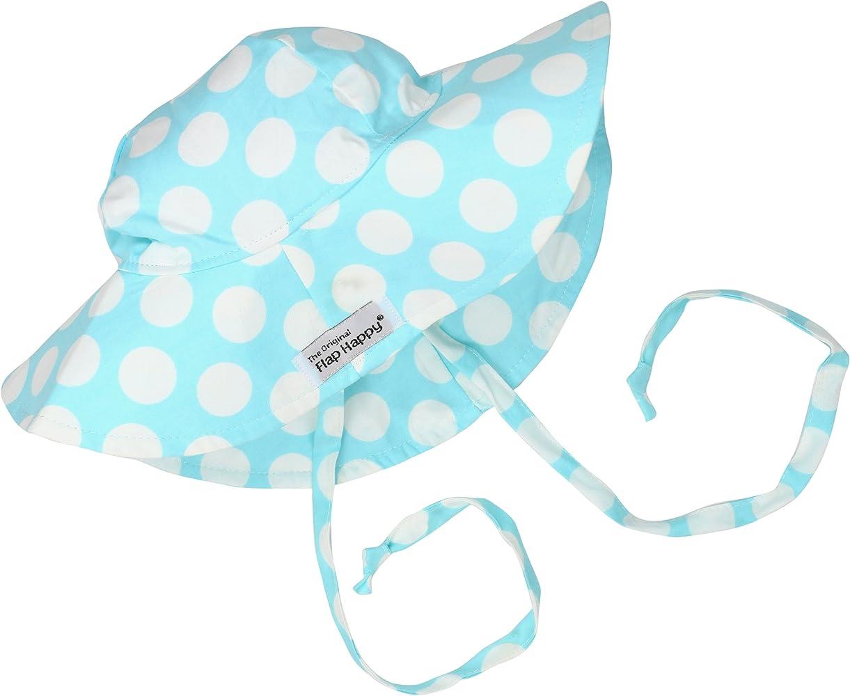 94a1a664b4d Amazon.com: Flap Happy Baby Girls' UPF 50+ Floppy Hat, Aqua Punch ...