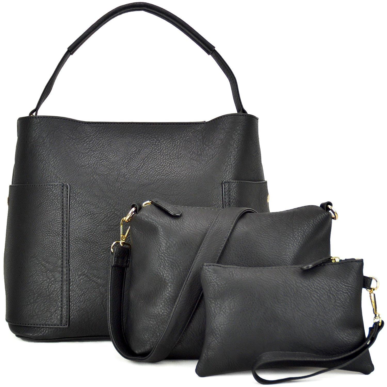 5dad04073e4b 3PCS Women Vegan Leather Handbags Designer Hobo Bag Shoulder Purse Top  Handle Tote Work Bag  Amazon.ca  Shoes   Handbags