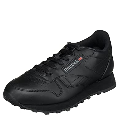 81cc742f205 Reebok Women s Classic Leather Sneaker Black 5.5 ...