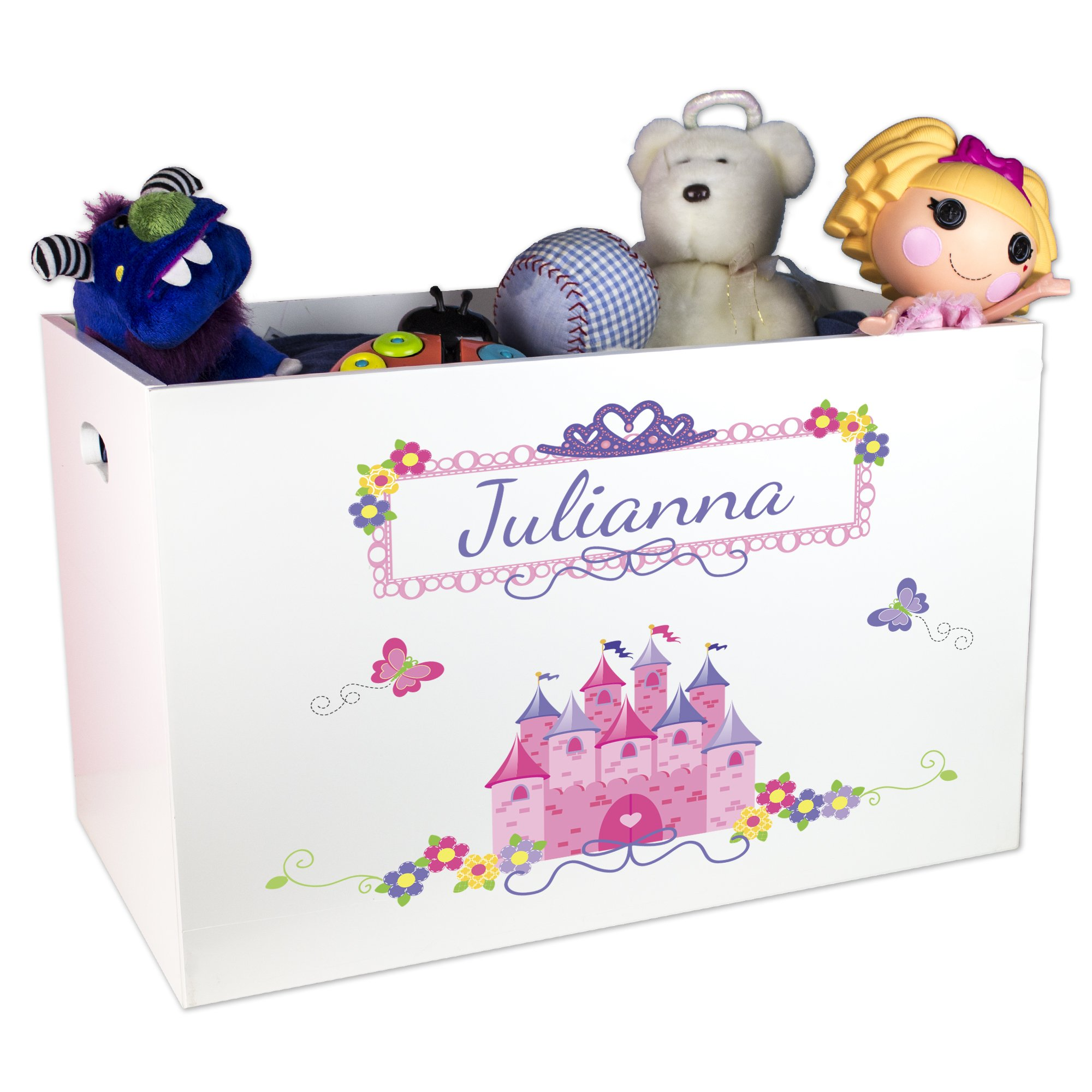 MyBambino Girl's Personalized Princess Toy Box by MyBambino