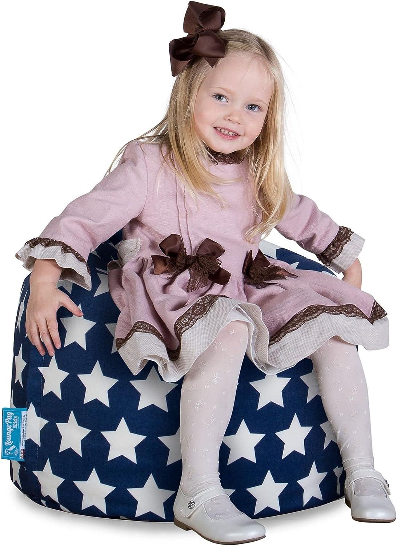 Kindersessel Lounge Pug/® Druck Blau Star Sitzsack Kinder