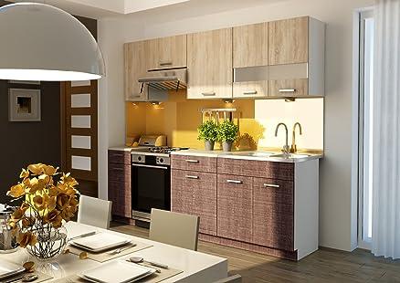 Cucina completa, 240 cm armadi, con angolo cottura LOLITA: Amazon ...