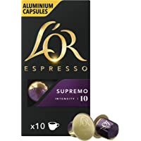L'Or Espresso Coffee Supremo Coffee - Intensity 10 - 100 Aluminium Capsules Compatible with Nespresso Machines (10x10…