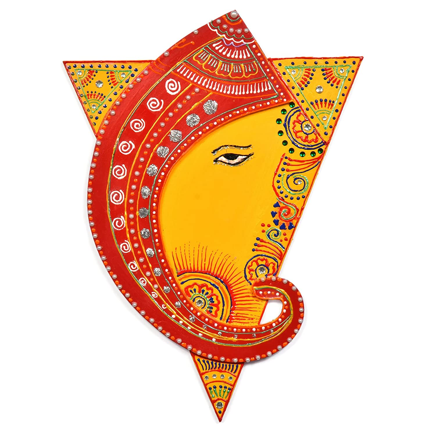 Amazon.com: Indian Decor Wall Hanging of Ganesh with Shakti Triangle ...