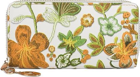 styleBREAKER monedero con motivo de punto de flores y hojas ...
