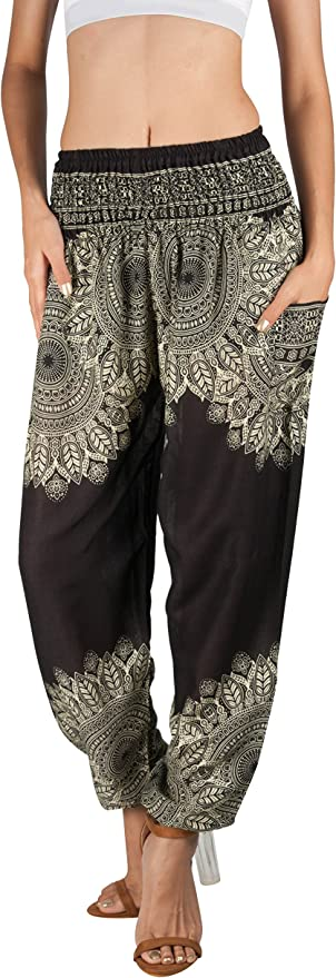 Joob Joob Women's Comfy Bohemian Harem Loose Yoga Pants
