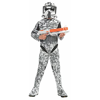 Rubies Star Wars Clone Wars Child's Arf Trooper Costume and Mask, Medium: Toys & Games