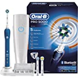 Oral-B Pro 5000 Cross Action Electric Rechargeable Toothbrush with Bluetooth Connectivity Powered by Braun