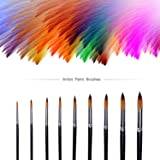 Heartybay Watercolor Paint Brush Set Acrylic Oil