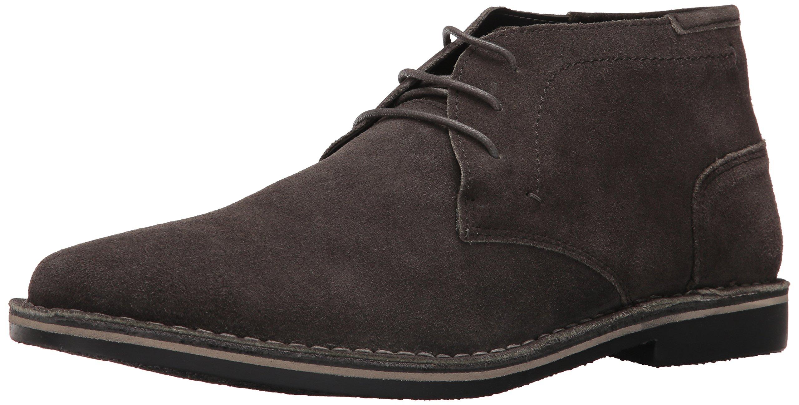 Steve Madden Men's Hacksaw Chukka Boot, Dark Grey Suede, 12 US/US Size Conversion M US