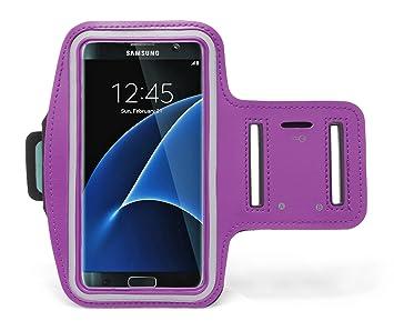 BASTEX Samsung Galaxy S7 Edge Funda, Morado Runners ...