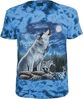 Diseño de Animales – Camiseta Lobo Blau Batik XXXL: Amazon.es: Ropa y accesorios
