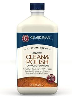Guardsman Clean U0026 Polish For Wood Furniture   Cream Polish 16.9 Oz    Silicone Free,