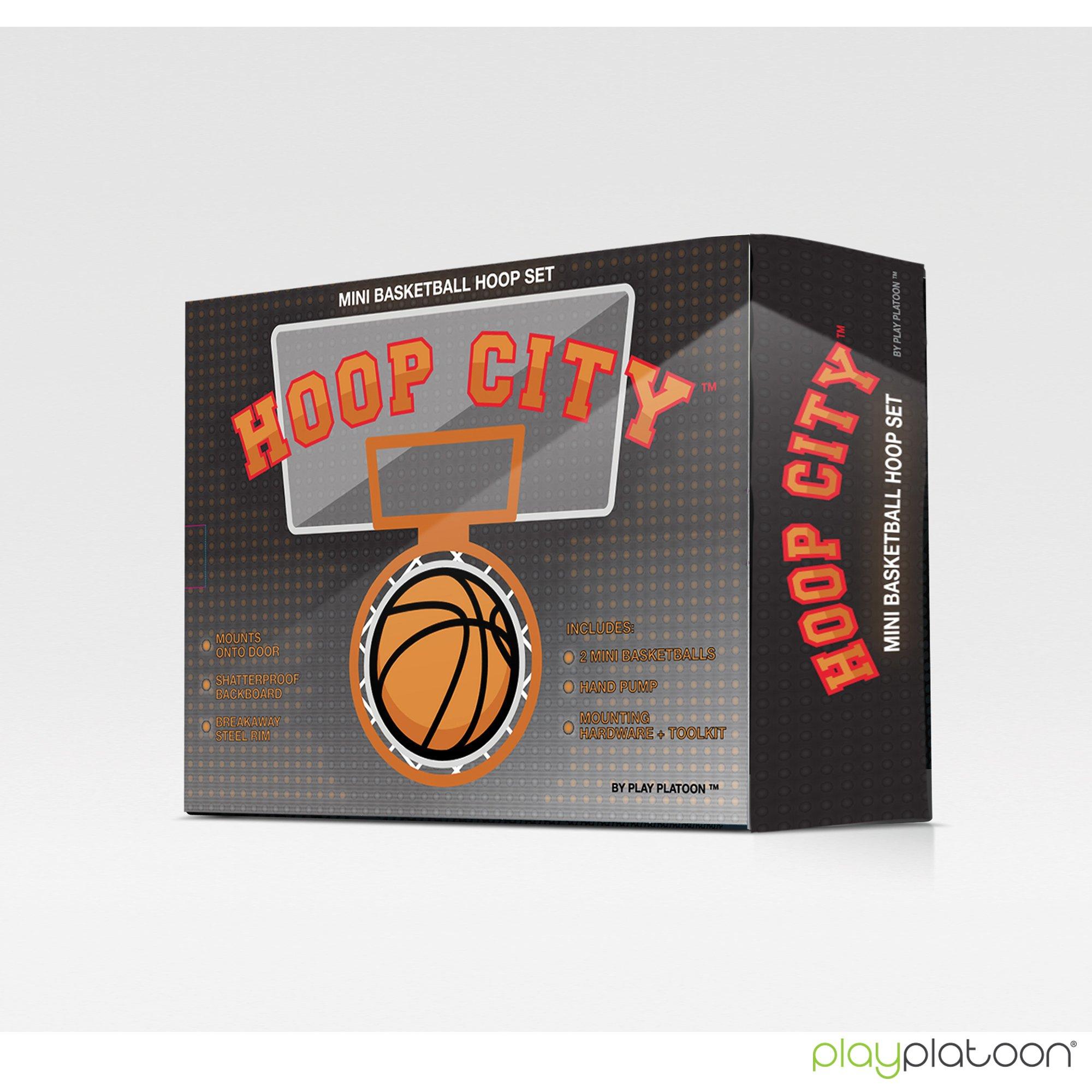 Play Platoon Mini Basketball Hoop for Door - 16 x 12 Inch Bedroom Basketball Hoop Indoors Set by Play Platoon (Image #5)