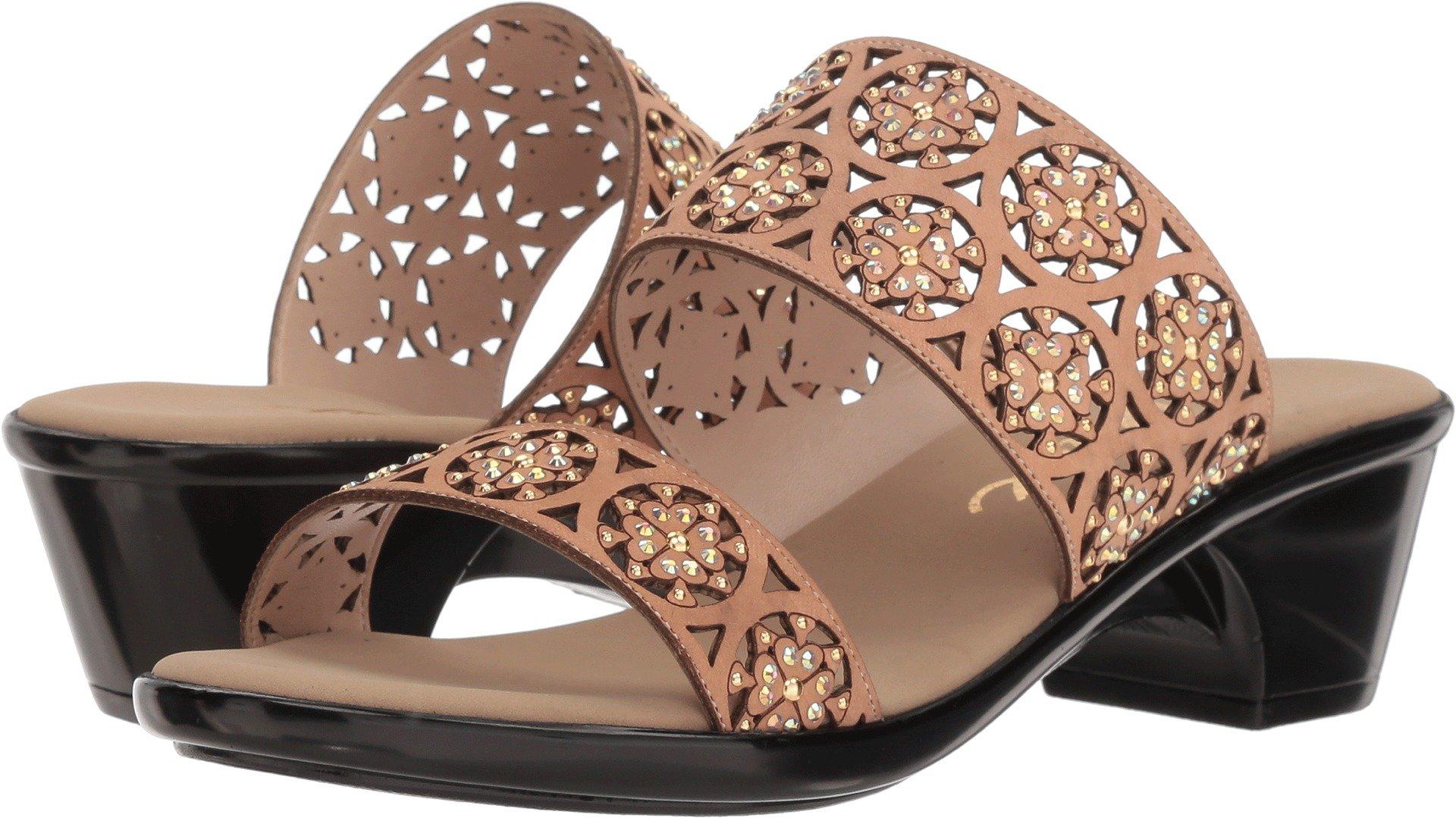 Onex Women's, Rachel Mid Heel Sandals Tan 8 M