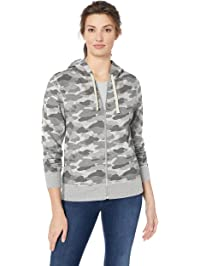 Amazon Essentials Women's French Terry Fleece Full-Zip Hoodie