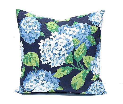 ZonaloDutt - Funda de cojín Azul con diseño de Flores de ...