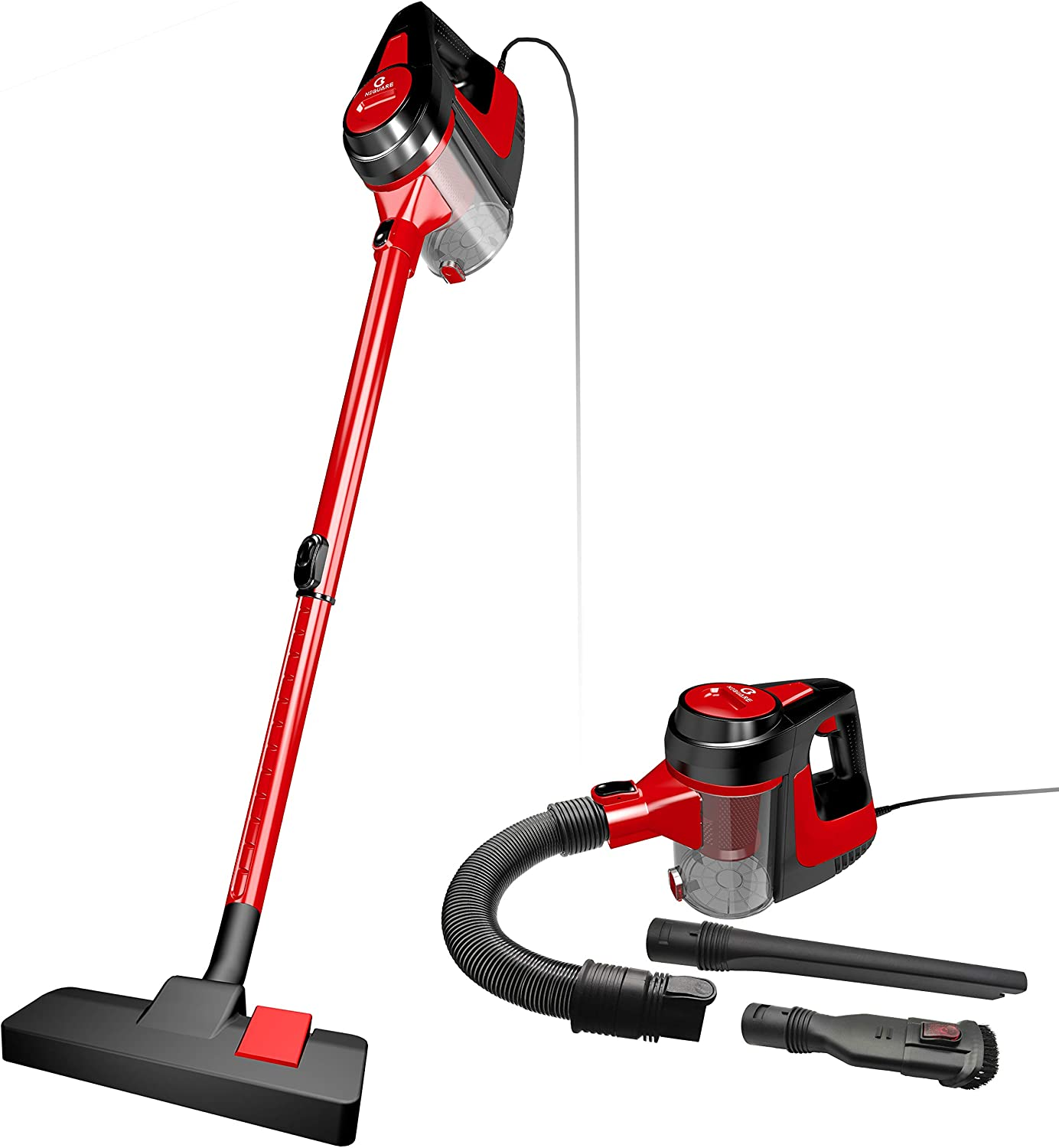 NEQUARE Vacuum Cleaner, 5 in 1 Stick Vacuum Corded Vacuum 600W 16KPa Powerful Suction with HEPA Filter for Hard Floor, Pet Hairs(A17B)