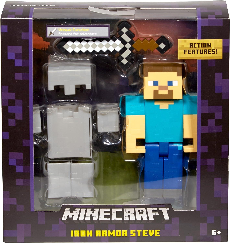 """Minecraft 11"""" Action Figure - Iron Armour Steve: Amazon.co.uk: Toys"""