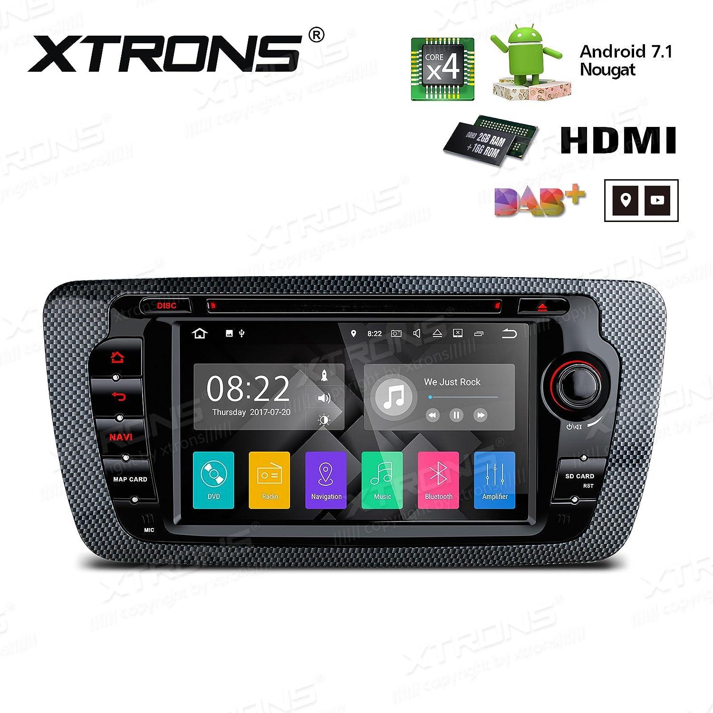 XTRONS HDMI Android 7.1 Quad Core 7インチHDデジタルタッチ画面車ステレオラジオDVDプレーヤーGPS for Seat Ibiza B0788NJQWP