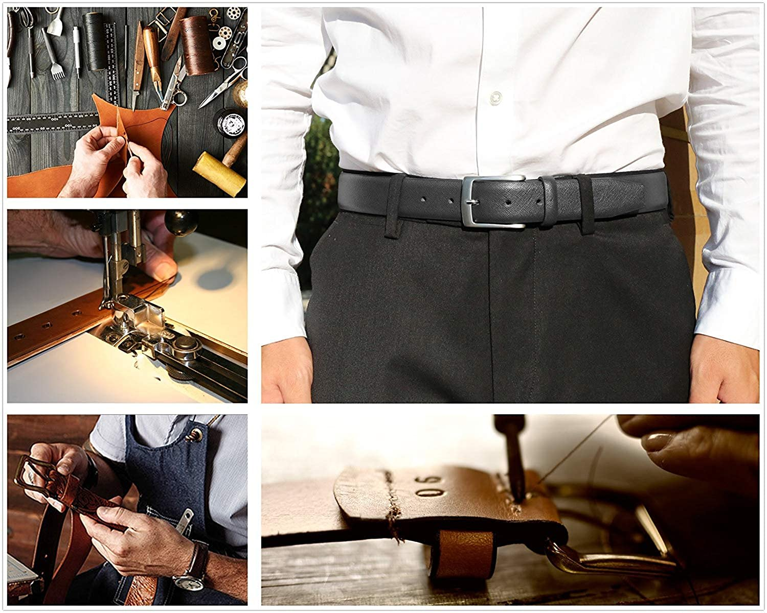 Mens Genuine Leather Dress Belt for Work Business and Casual Occasions Fashion Classic and Functional