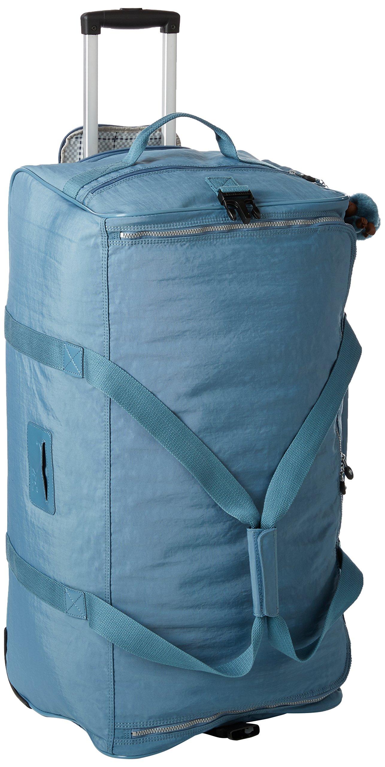 Kipling Women's Discover Solid Large Wheeled Duffle Bag, Blue Bird