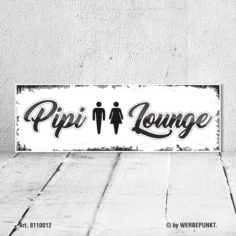Cartel Vintage Regalo Cartel de madera Pipi Lounge inodoro ...