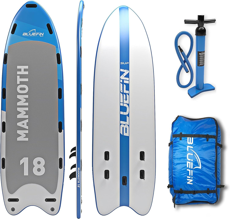 Bluefin Stand Up Paddle Board Hinchable | Modelo Mammoth 18| Tabla de Familia/Grupo: hasta 10 Usuarios | Incluye Accesorios: Amazon.es: Deportes y aire libre