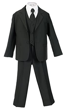 64bc6ad231324 Amazon.com: Avery Hill Boys Formal 5 Piece Suit Shirt Vest: Clothing