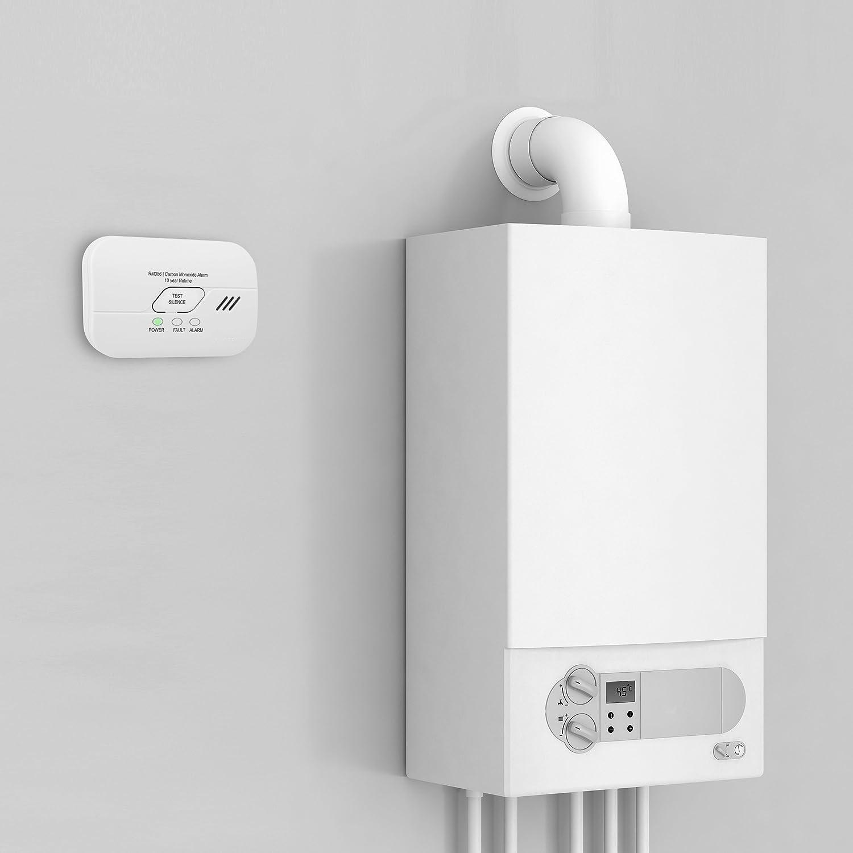 Smartwares FGA-13010 - RM386 - Detector de monóxido de carbono, funciona con pilas, Certificado EN 50291, vida util de 10 años