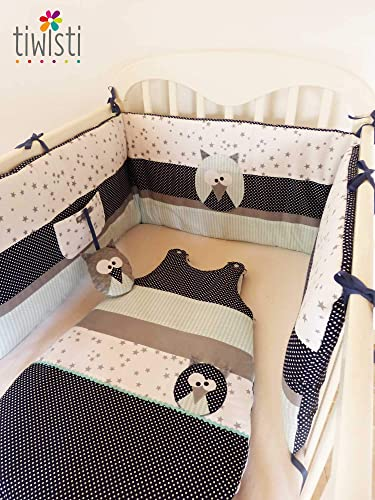 Décoration chambre bébé Hibou : tour de lit et gigoteuse 0-6 mois ...