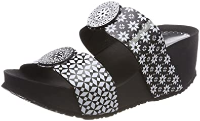 Desigual Damen Shoes_Cycle Africa BN Plateausandalen, Schwarz (2000 Negro), 37 EU