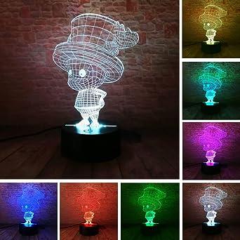 Tony Chopper Figure 3D Illusion Led Nuit Lumière Décor